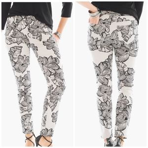 Chicos So Slimming Girlfriend Ankle Jeans - Floral